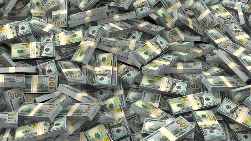 millions dollars dollar bills money hundred million stacks bundles flow shutterstock wealth 4k