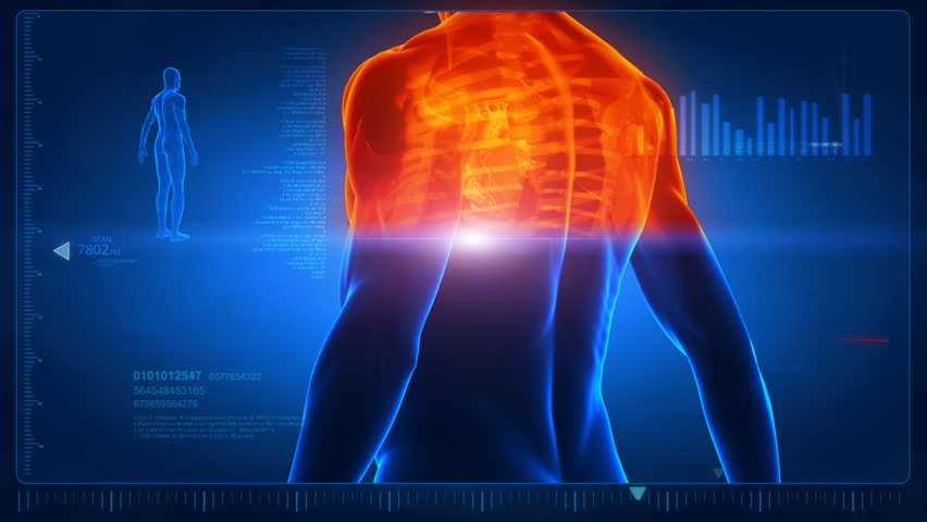 Human scan in loop 4- chest and back parts Royalty-Free Stock Footage #741706