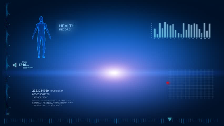 Human x-ray scan in loop 6 - whole body Royalty-Free Stock Footage #741718