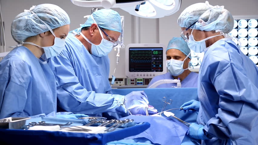 Surgical team in operating room.