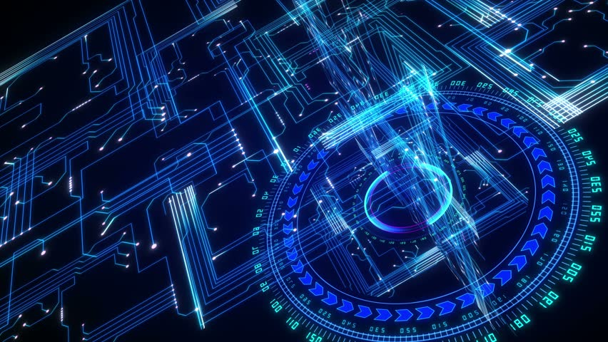 4K Futuristic technological abstract motion background, seamless looping. | Shutterstock HD Video #7418275