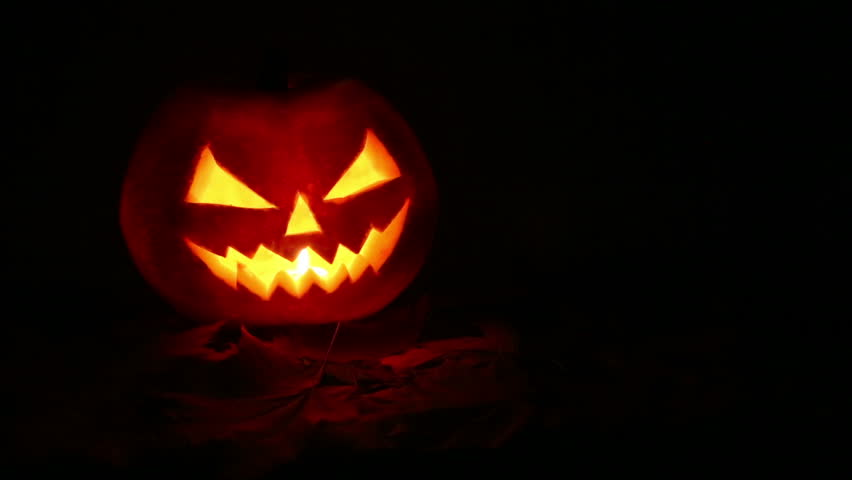 Halloween pumpkin at night   Shutterstock HD Video #7418584
