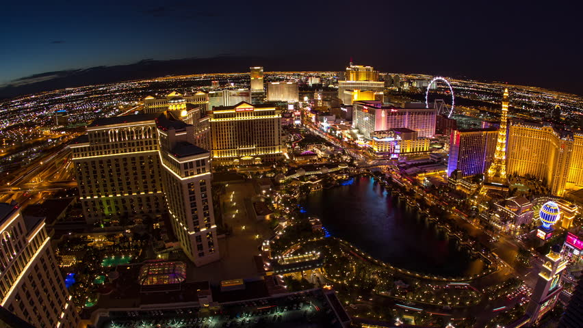 LAS VEGAS - CIRCA JULY 2014: Las Vegas strip day to night wide shot time-lapse | Shutterstock HD Video #7428178