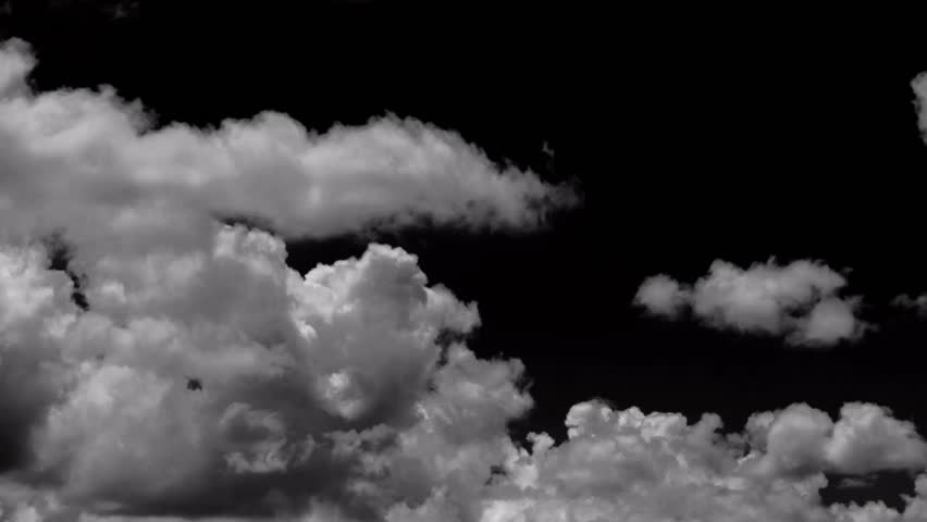 Time lapse of white clouds in black background | Shutterstock HD Video #7433815