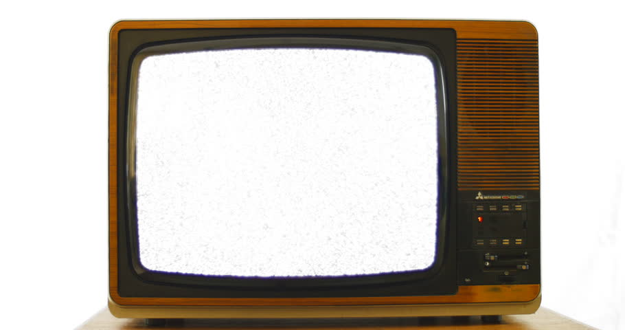 Slow zoom into vintage 1970s television. 76 years of television history came to an end at midnight on Wednesday 24 October 2012 when the analogue TV signal was switched off. (UK, July 2014)  | Shutterstock HD Video #7434721