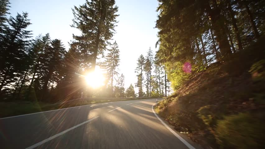 Video footage of driving on a country road in the black forest in germany | Shutterstock HD Video #7450828