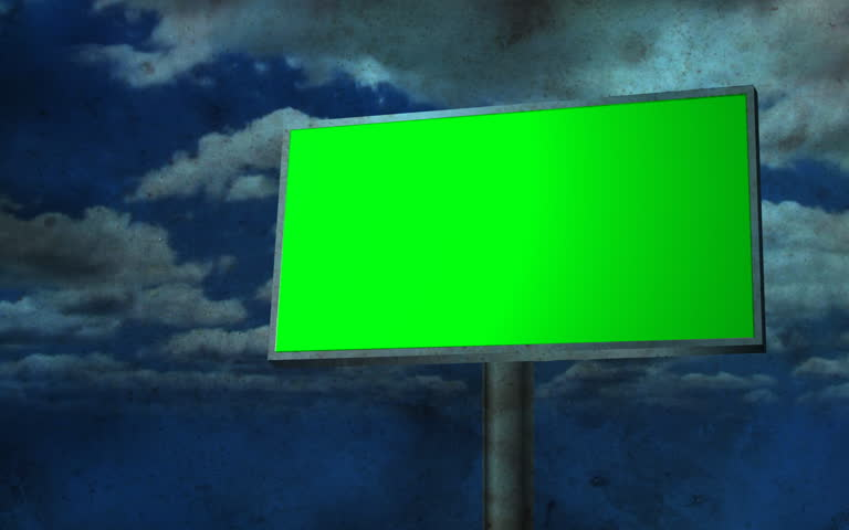 Blank Billboard with moving clouds | Shutterstock HD Video #746992