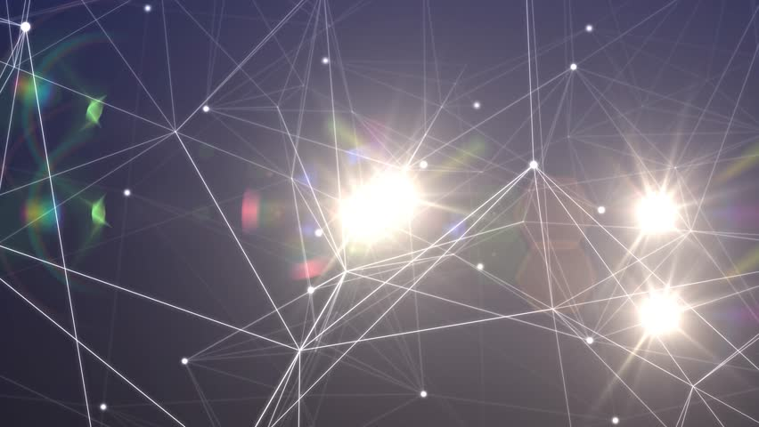 Lines and Points Matrix With Colored Lights - Abstract Motion Backgrounds for Music Videos | Shutterstock HD Video #7501996