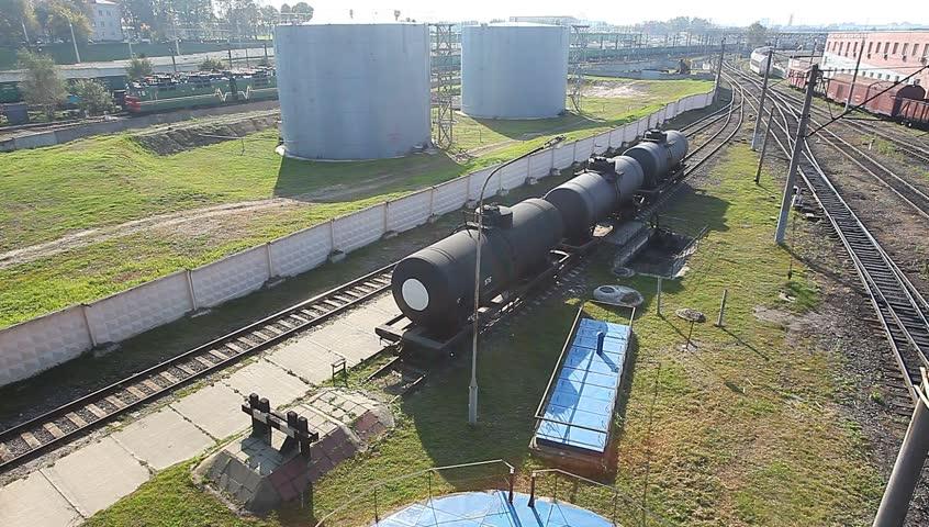 Railroad tank with fuel   Shutterstock HD Video #7544323