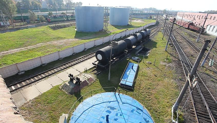 Railroad tank with fuel | Shutterstock HD Video #7544326
