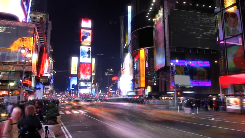 Times Square Time Lapse  | Shutterstock HD Video #755335