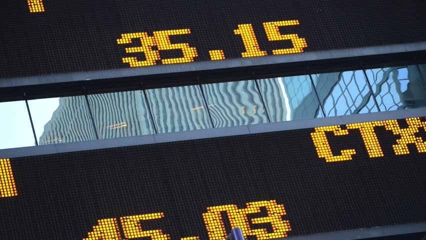 Stock market scrolling ticker with quotes | Shutterstock HD Video #7553440