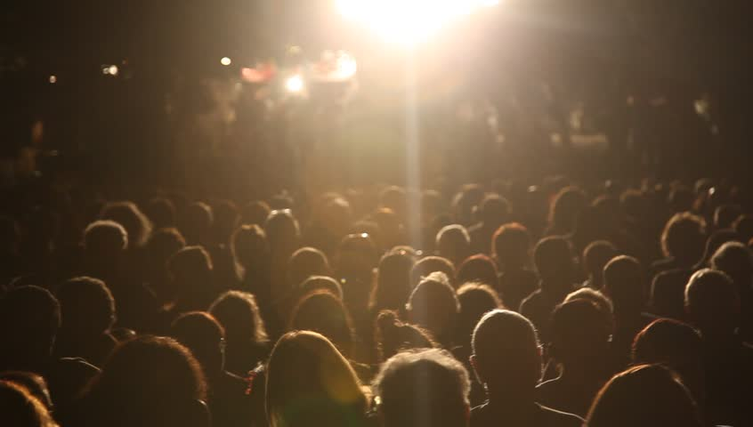 Anonymous crowd during a concert during a break #7559113