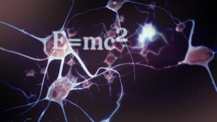 Educated mind: Zoom through eye into brain / neuron activity with intellectual / education / scientific themed montage | Shutterstock HD Video #7589740