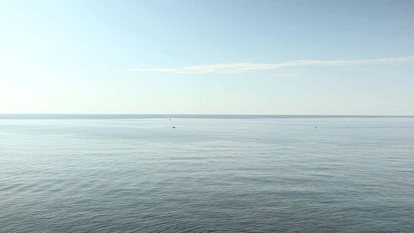 Beautiful horizon mediterranean sea. Blue water landscape #7614310