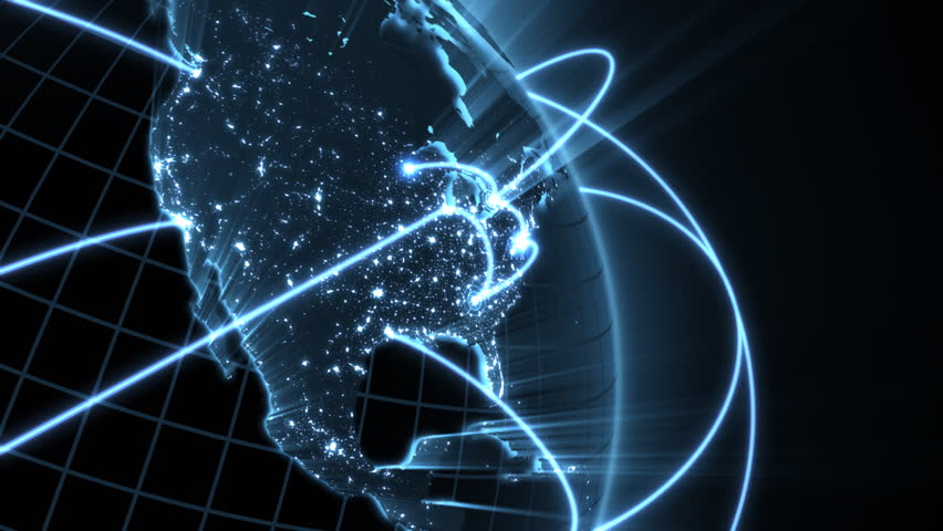 Growing Global Network  - blue version  | Shutterstock HD Video #761992
