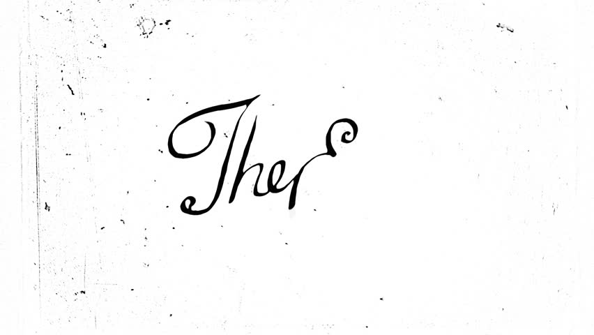 """Vintage """"The End"""" animation. Old style typography, HD."""