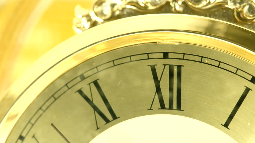 Close up vintage clock face.   Shutterstock HD Video #7633705