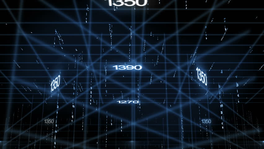 Line together with digital numbers (technology background) | Shutterstock HD Video #7636453
