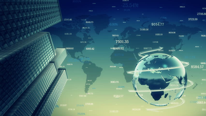 Business background with rotating planet. Loop animation. | Shutterstock HD Video #7651633