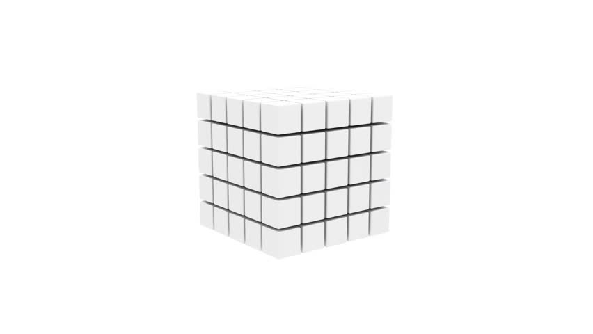 Abstract cube on white background #7666822