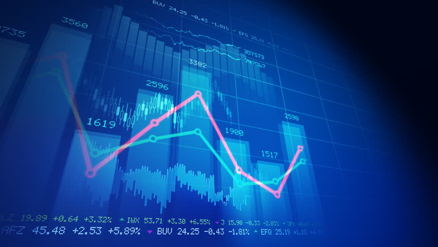 Seamlessly looping abstract animation of financial stock data   | Shutterstock HD Video #766693