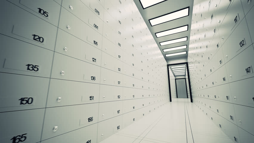 01848 Safe Deposit Lockers In A Bank
