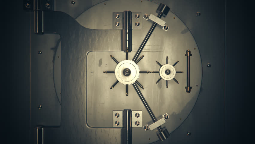 01842 Opening Safe Door Of Bank Vault