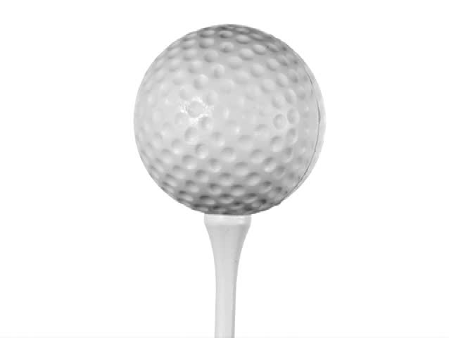 Golf Ball On Tee Isolated Stock Footage Video 100 Royalty Free 773095 Shutterstock
