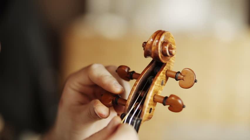 Making the violin - strings | Shutterstock HD Video #7739023