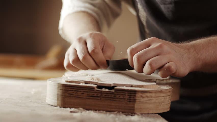 Making the violin - wood work | Shutterstock HD Video #7739050