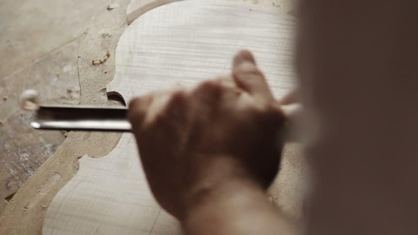 Making the violin - wood work | Shutterstock HD Video #7739059