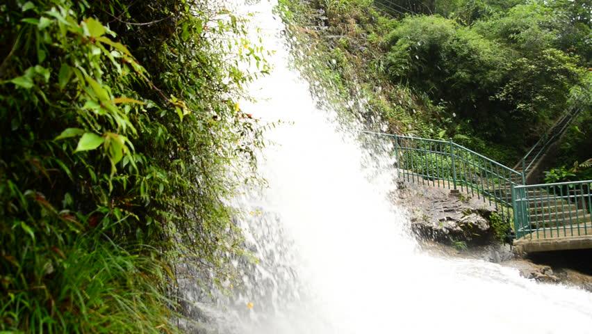 Raging Waterfall during Rainstorm - Sapa Vietnam | Shutterstock HD Video #7739257