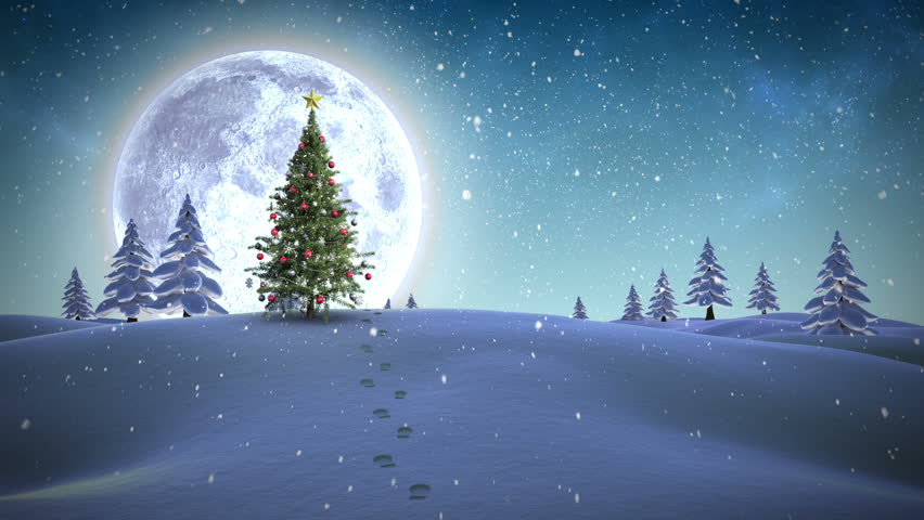 Digital animation of Frohe weihnachten message appearing in snowy landscape | Shutterstock HD Video #7750666