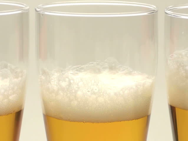 Beer three glasses close-up - NTSC | Shutterstock HD Video #776902