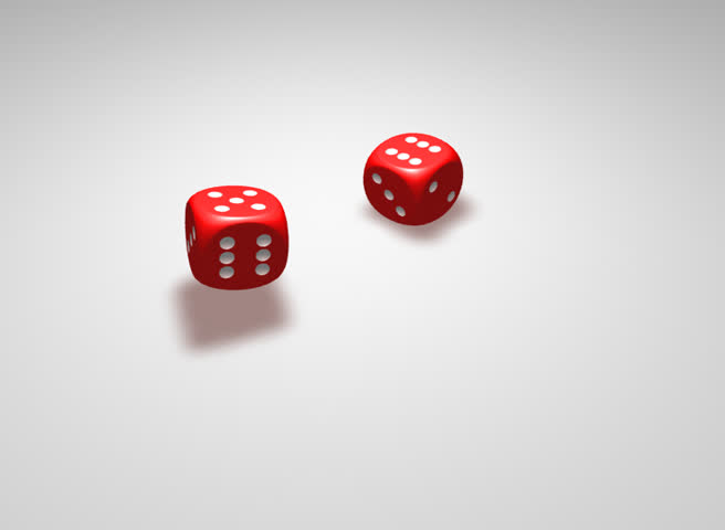 Two isolated dices giving five and six combination | Shutterstock HD Video #777859