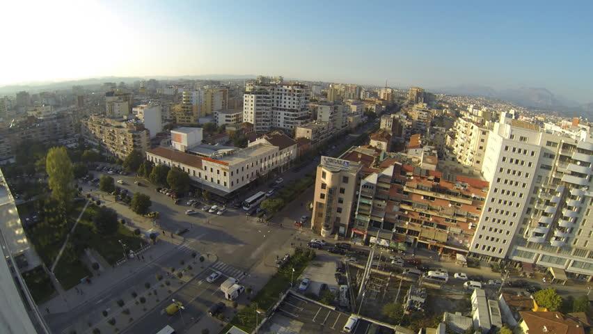 TIRANA, ALBANIA - OCTOBER 22: Panoramic view of Tirana on October 22, 2014 in Tirana, Albania   Shutterstock HD Video #7792375