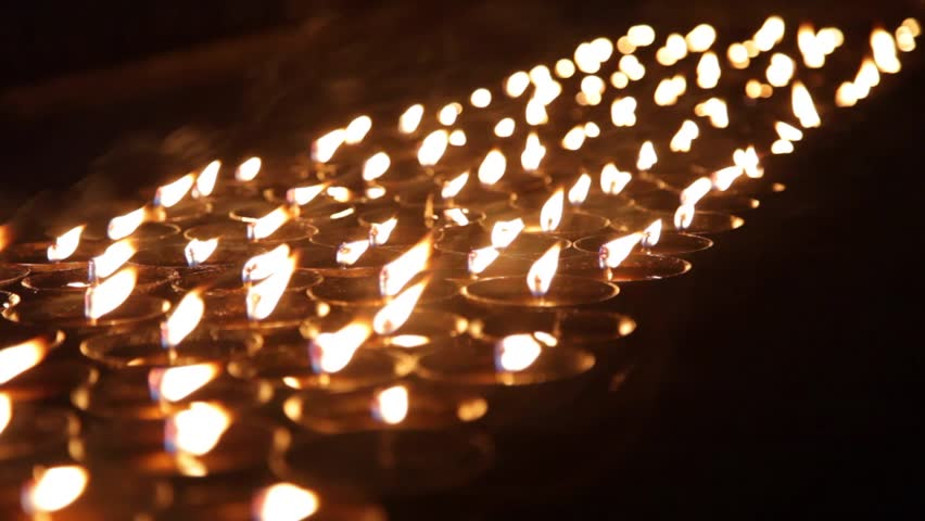 Close Up of Candles Burning | Shutterstock HD Video #7805986