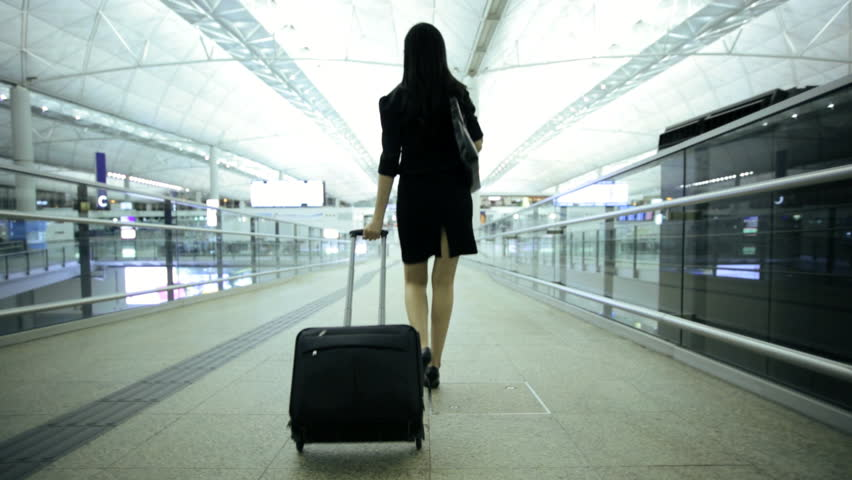 American Asian Chinese Woman Airport Stock Footage Video (100 ...