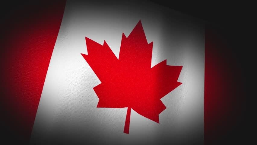 4K 3D Animation of an Canadian Canada Flag Closeup, highly detailed with fabric canvas and sewing seams texture.  Source: Adobe After Effects