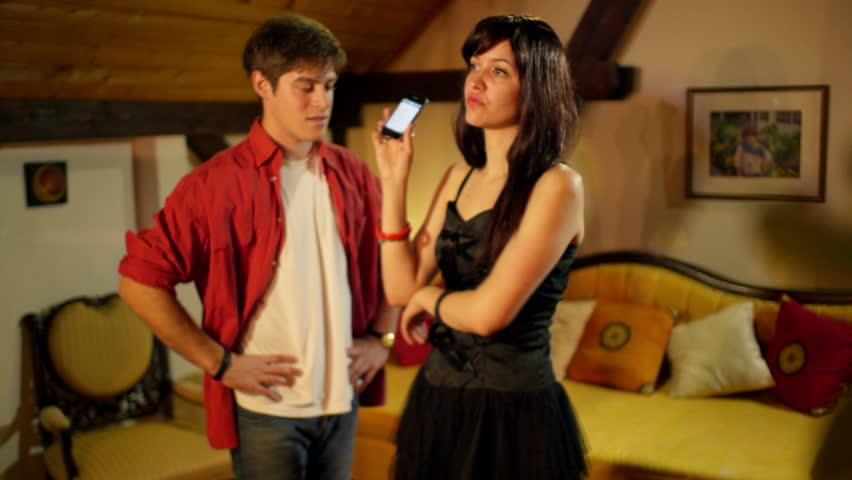 Girl arguing with her boyfriend