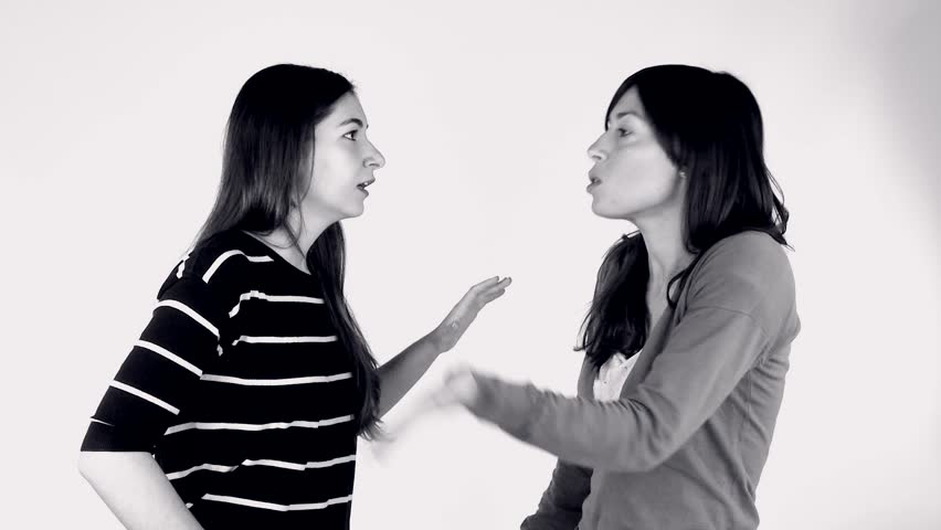 Furious Man Arguing His Girlfriend Screaming Stock Photo
