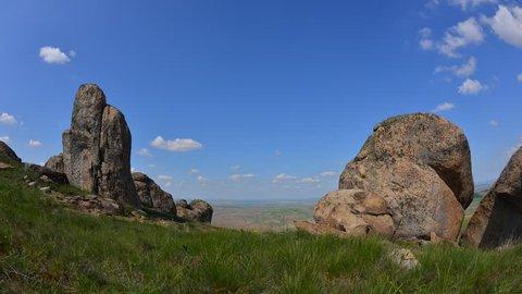 timelapse with Macin mountains in Dobrogea, Romania