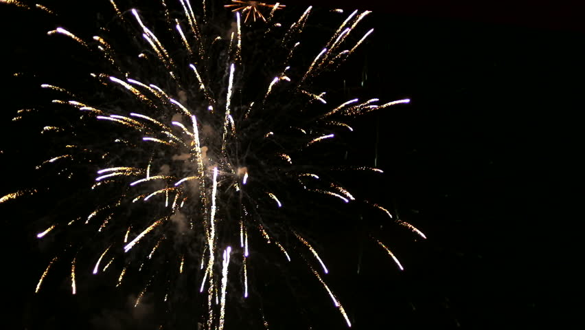 Colorful of fireworks on the river at night. | Shutterstock HD Video #7868332