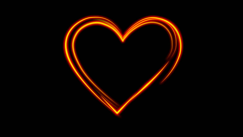 heart art animation on a black background. 1080p.