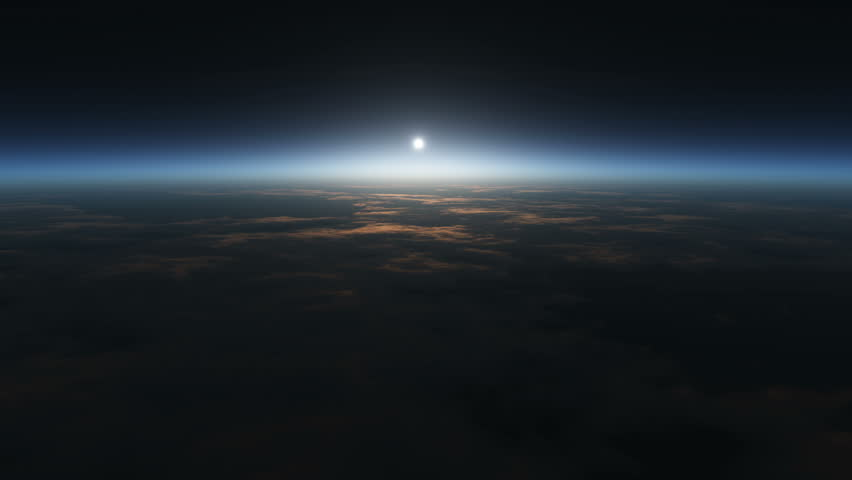 Planet sunrise views in space 4k | Shutterstock HD Video #7942531