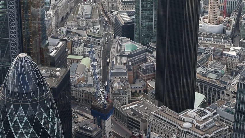 LONDON - CIRCA 2014a view of london city skyline from a helicopter  #8003863