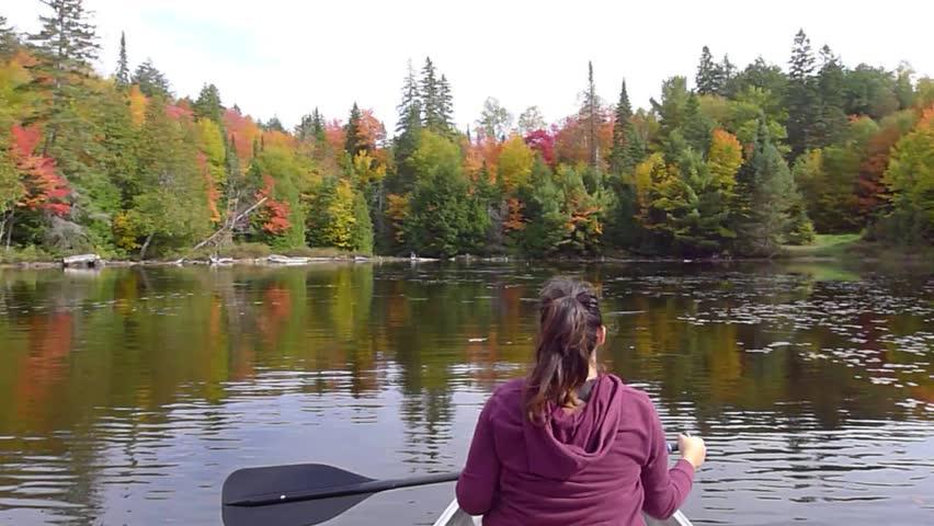 Canoe at Canoe lake algonquin