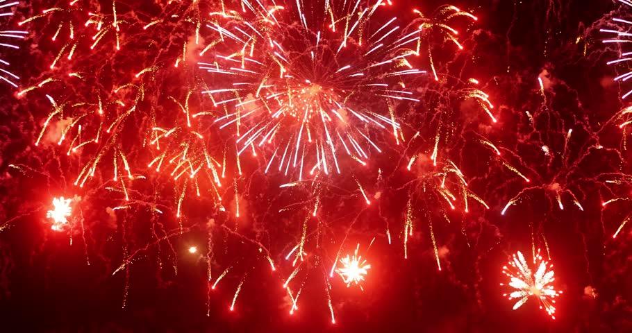 4K - Beautiful colorful firework #8015368