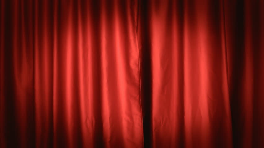 A static red theater curtain. Background or establishing shot. Front view.  | Shutterstock HD Video #8021668